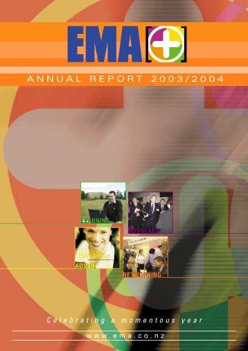 EMA Annual Report 2003/2004