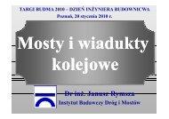 Dr inż. Janusz Rymsza - WOIIB