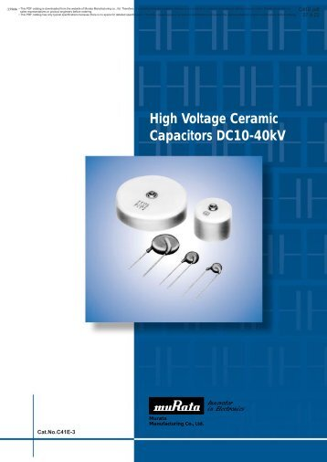 High Voltage Ceramic Capacitors DC10-40kV - MHz Electronics, Inc