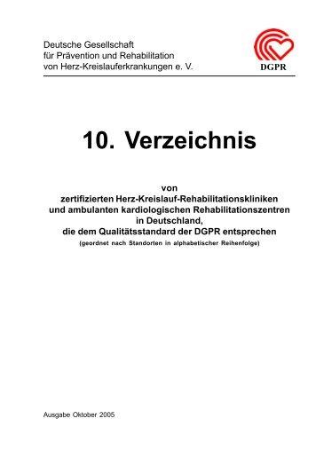 10. Verzeichnis - Gesundheit-Muensterland.de