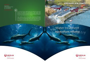 Water treatment for the aquaculture industry