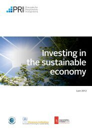 Investing in the sustainable economy - Principles for Responsible ...