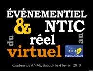 Présentation Anaé événementiel 2.0
