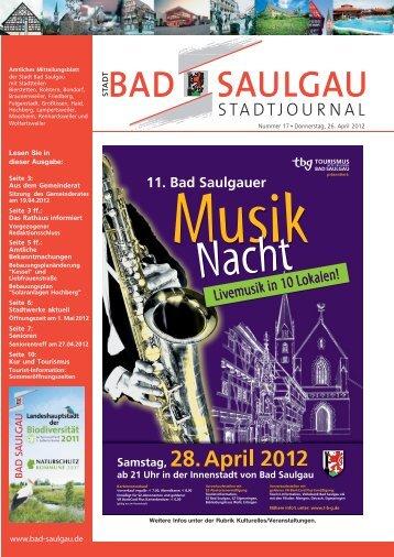 Stadtjournal Ausgabe 17/2012 - Stadt Bad Saulgau
