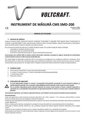 INSTRUMENT DE MĂSURĂ CMS SMD-200 - German Electronics