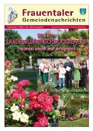 Gemeindenachrichten Ausgabe September 2009 - Marktgemeinde ...