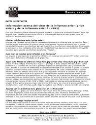 (gripe aviar) y de la influenza aviar A (H5N1)