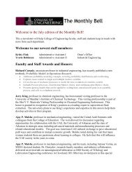 Welcome to the July edition of the Monthly Bell! - College of ...