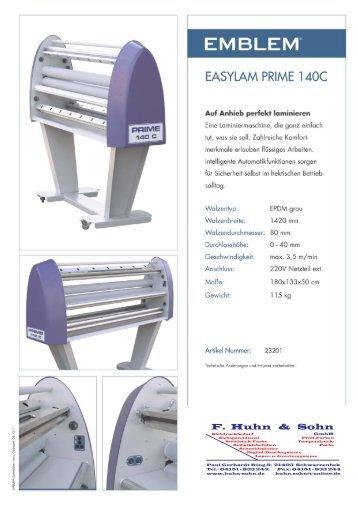 Easylam_Prime_140_C - F. Huhn & Sohn GmbH