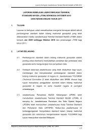 laporan kemajuan jawatankuasa kerja teknikal mengenai - Malaysia ...