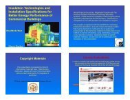 Insulation Technologies and Installation Specifications ... - WoodWorks