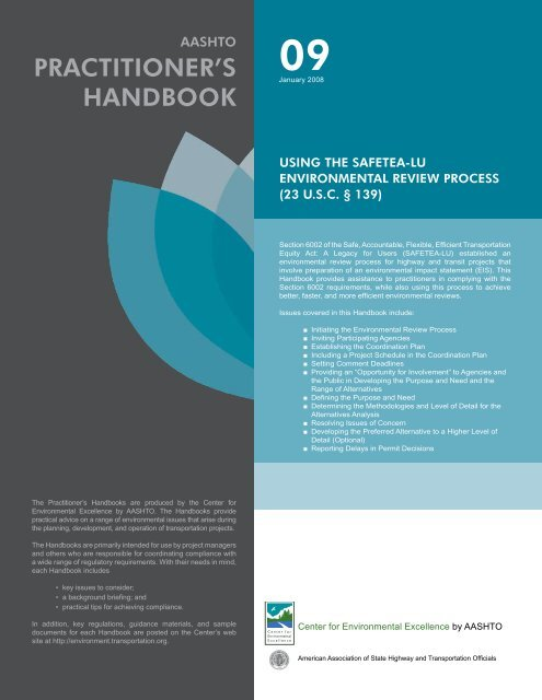 Download the handbook - Center for Environmental Excellence