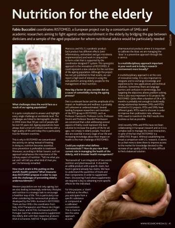 anti-aging treatment by nutrition for the elderly - AISA Therapeutics