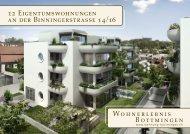 12 Eigentumswohnungen an der Binningerstrasse ... - Homegate.ch