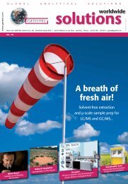 GERSTEL Solutions wordwide No. 12 - A breath of fresh air!
