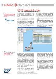 SAP PLM Integration für Solid Edge - CIDEON AG