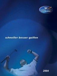 Broschüre - German Golf Academy