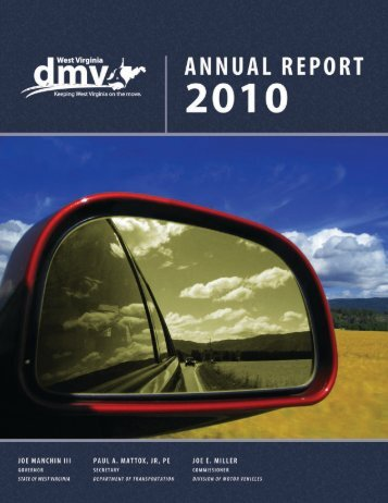 DMV Annual Report - West Virginia Department of Transportation