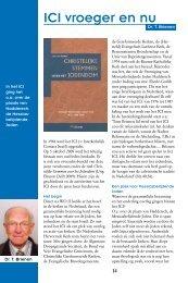 ICI vroeger en nu - Kerk en Israël