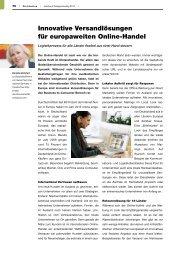 Innovative Versandlösungen für europaweiten Online-Handel