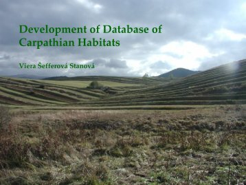 habitats - The Carpathian EcoRegion Initiative