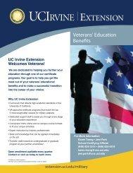 Veterans' Education Benefits - UC Irvine Extension