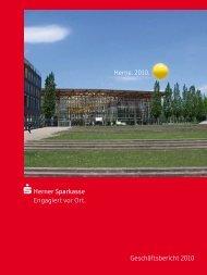 Geschäftsbericht 2010 Herne. 2010. - Herner Sparkasse