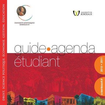 guide-agenda étudiant - Master Économie Appliquée - Université ...