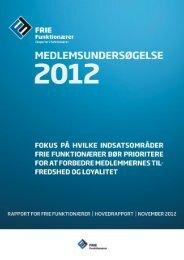 Se hele rapporten (pdf) - Frie Funktionærer