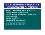 my experiments in earth & environment outreach - Igcp-grownet.org