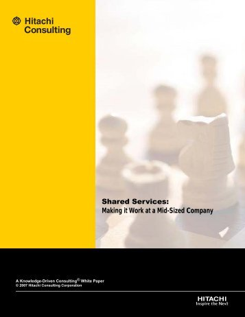 Shared Services - Hitachi Consulting