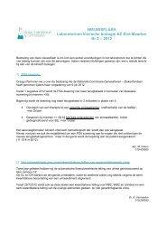 Nieuwsflash Klinisch Laboratorium 2012 - AZ Sint-Maarten