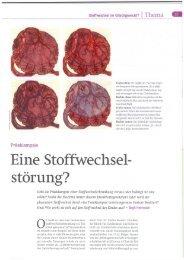 Eine Stoffwechsel- störung? - Dr. med. Andreas Brückmann
