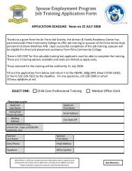 SEP Application Form - Davis-Monthan Air Force Base