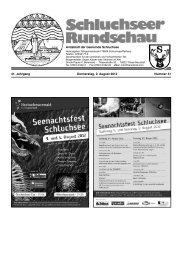 Notrufe · Bereitschaftsdienste der Ärzte ... - Gemeinde Schluchsee