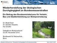( BMVBS ) zur Biotopvernetzung, Dr. Birgit Esser - Biodiversität ...