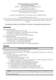 Téléchargez le règlement intérieur du centre de loisirs Les ... - Joigny