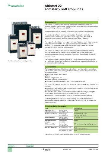 soft stop units - Schneider Electric