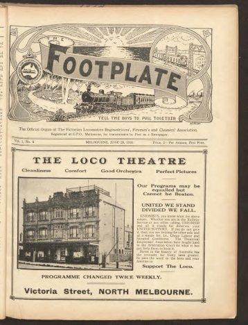 The Footplate: vol. 1, no. 5 (June, 1918)