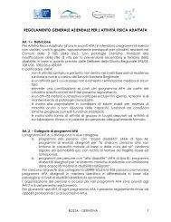 regolamento generale aziendale per l'attività fisica adattata - DMSA