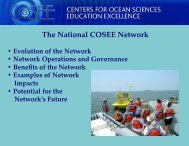 The National COSEE Network - Centers for Ocean Sciences ...