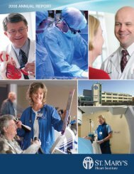 Annual Report - St. Mary's Medical Center