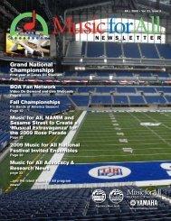 High School Newsletter - October 2008 - Music for All