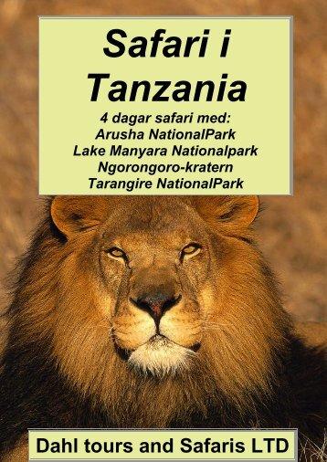4 dagar Tanzania safari med Ngorongoro - Dahl Safaris