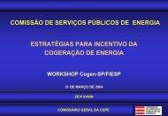 O Setor Energético - São Paulo - Cogen