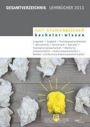 GESAMTVERZEICHNIS LEHRBÜCHER 2013 - Gunter Narr Verlag ...