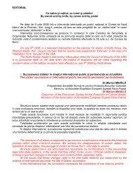 Rezumat Nr.11 (2/2006) - caiete de drept international