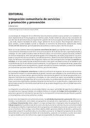 EDITORIAL Integración comunitaria de servicios y ... - papps