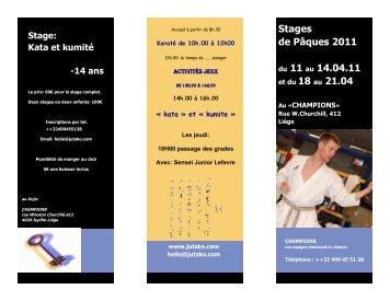 Stages de Pâques 2011 du 11 au 14.04.11