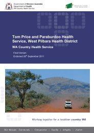 Tom Price Paraburdoo Service Plan - WA Country Health Service